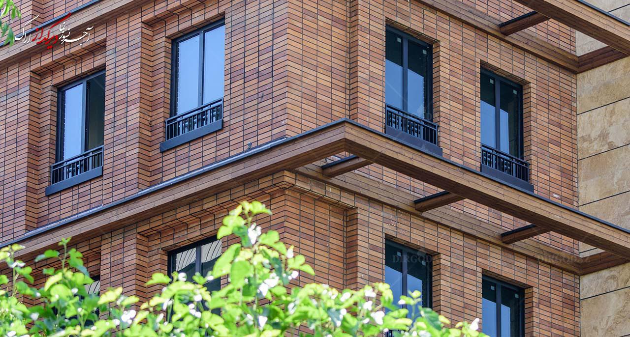 آجر در نمای ساختمان | شرکت دیرگداز اراک